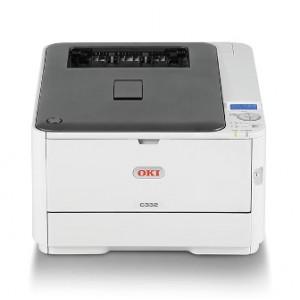 OKI C332dn Duplex Network Color Laser Printer - 1200x600dpi 26 แผ่น/นาที